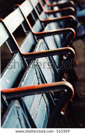 American baseball ballpark seats - stock photo