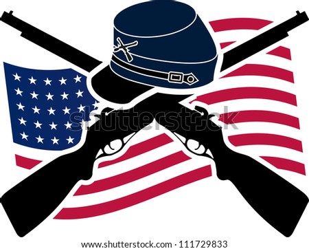 American Civil War. Union. raster variant - stock photo