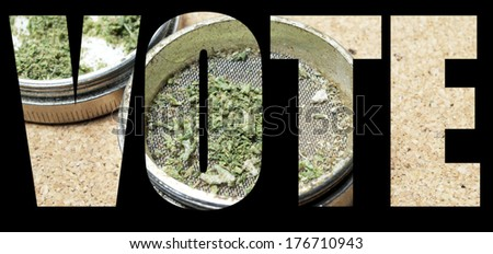 American Drug Trade, Legal Recreational and Medical Marijuana  - stock photo