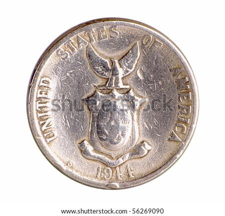 American Era Philippine Silver Coin - stock photo