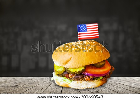 American Fast Food - stock photo