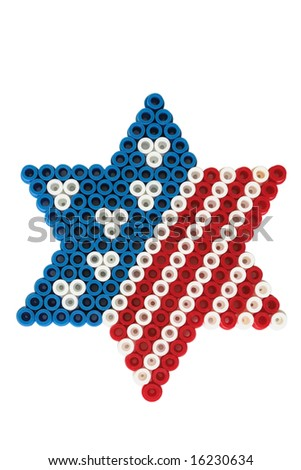 American flag and Jewish David star - stock photo