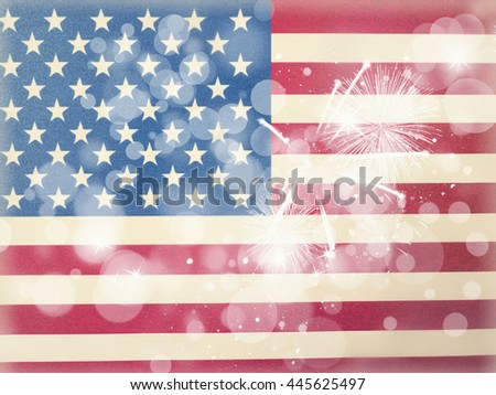 american flag background, 4th of july  - stock photo