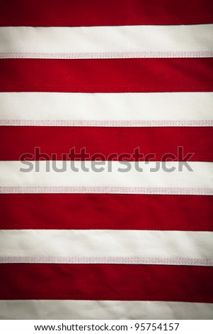 American Flag background with red and white stripes - stock photo