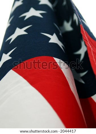 American Flag Detail - stock photo