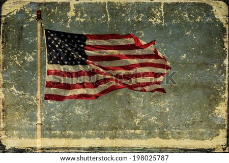 American Flag  Independence Day Background with place for your text - stock photo