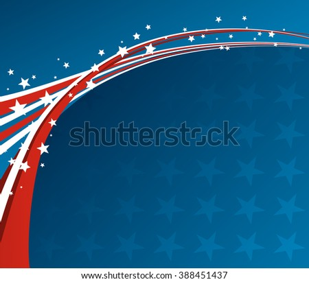 American Flag, patriotic background for Independence Day, Memorial Day - stock photo