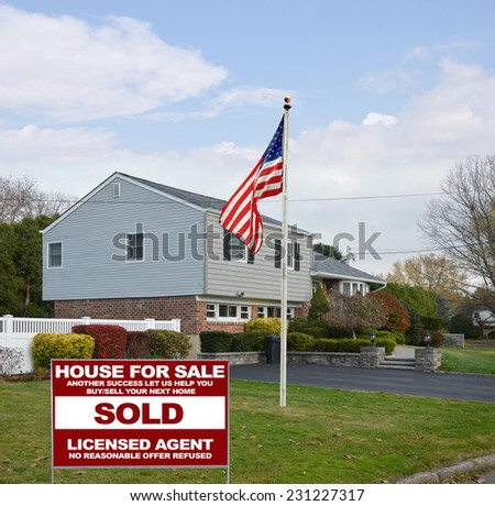American flag pole real estate sold another success let for High ranch house