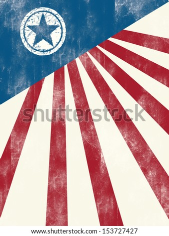 American flag, poster or flyer design - stock photo