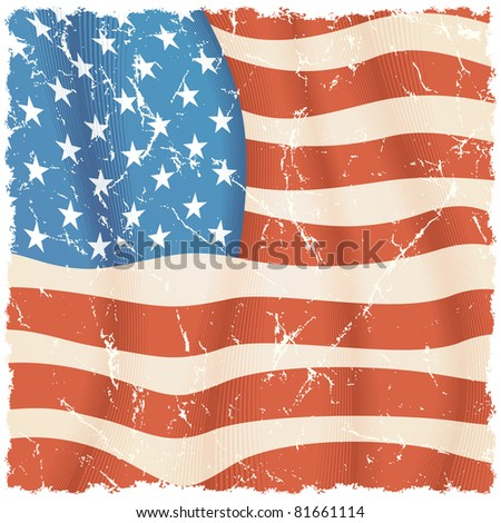 American Flag theme, grunge background for your design - stock photo