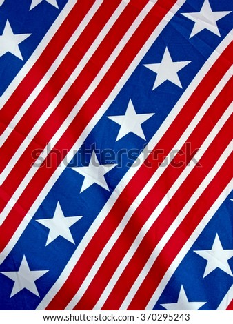 american flag with stars closeup, national flag diversity - stock photo