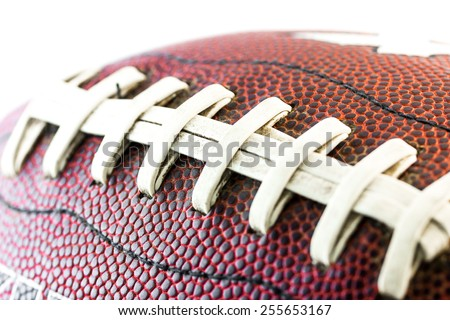 American footbal ball close up - stock photo
