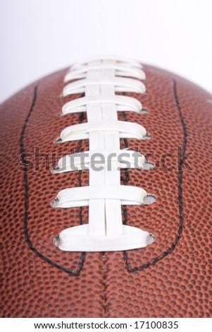 american football ball close up - stock photo