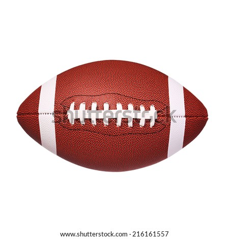 American Football Ball isolated on white - stock photo