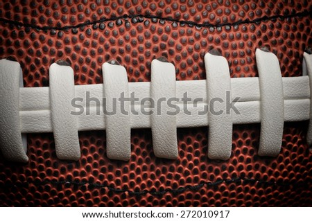 American football close up with laces and texture - stock photo