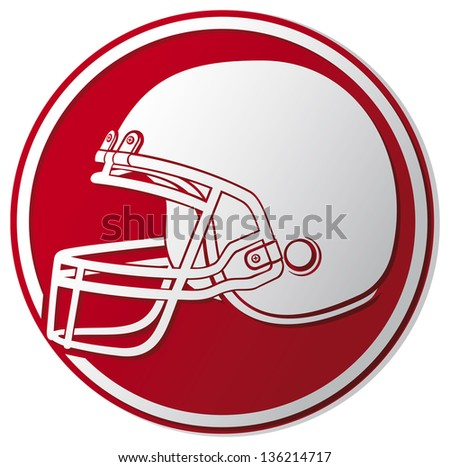 american football helmet icon (helmet football team, football helmet symbol, american football helmet label) - stock photo