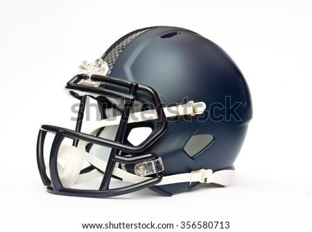 american football helmet isolated on white backgrounda - stock photo