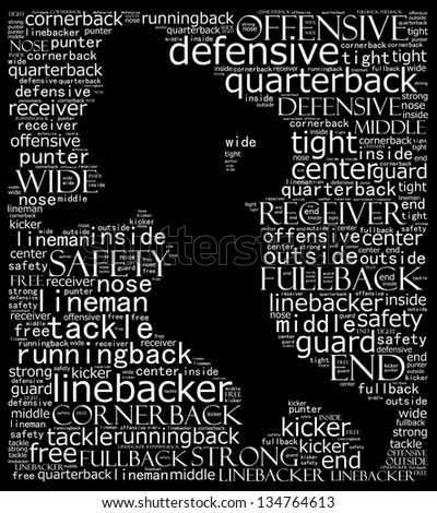 American football in text collage - stock photo