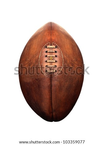 American football isolated over a white - stock photo
