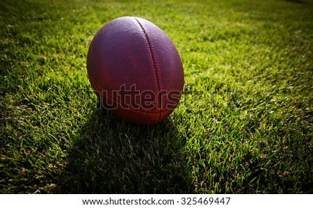 american football on stadium - stock photo
