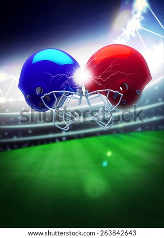 American football sport invitation poster or flyer background with empty space - stock photo