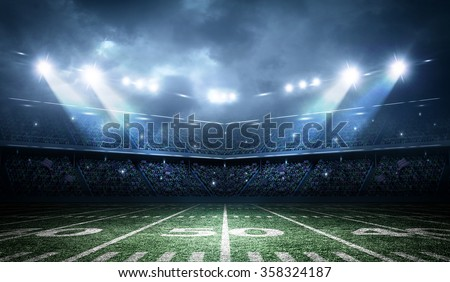 american football stadium - stock photo