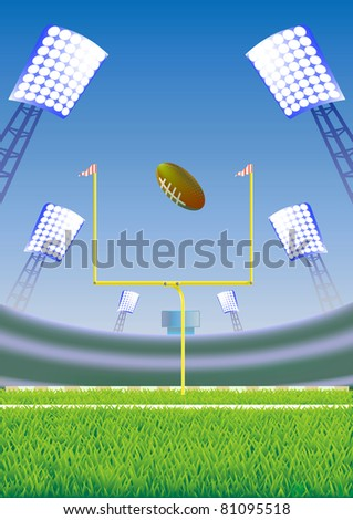 American football stadium. - stock photo