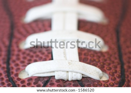 American football, very shallow depth of field - stock photo