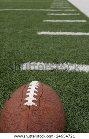 American football with hashmarks - stock photo