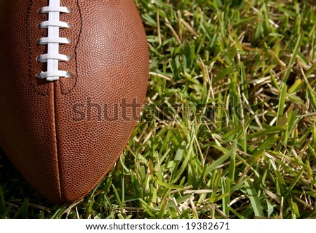 American football with room for copy - stock photo
