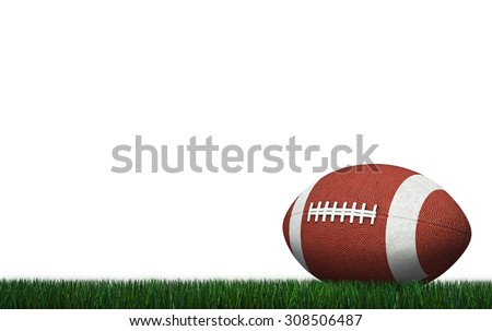 American Football with Yard on American Football stadium - stock photo
