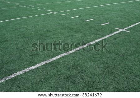 American Football Yard Line Markers - stock photo