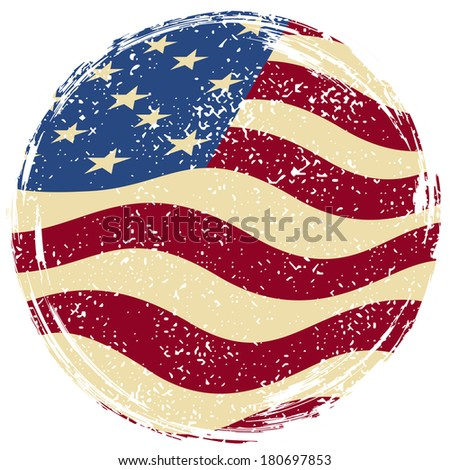 American grunge flag. Raster version - stock photo