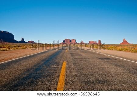 American highway - stock photo