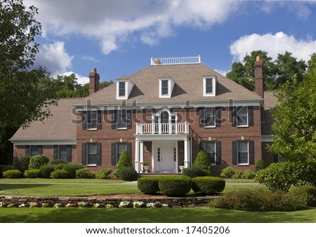 american home - stock photo