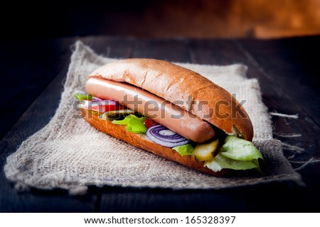 American hot dog - stock photo