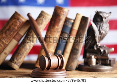american law and justice theme - stock photo