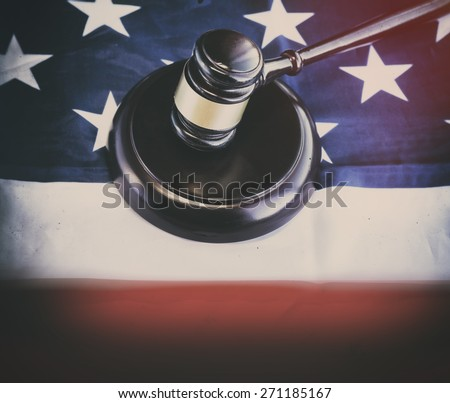 American legal law concept image. - stock photo