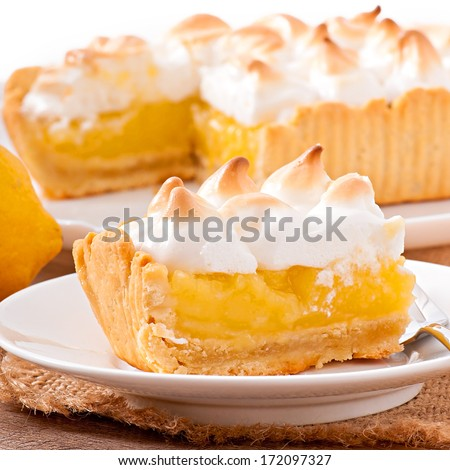 American lemon cake - stock photo