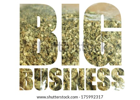American Marijuana Business  - stock photo