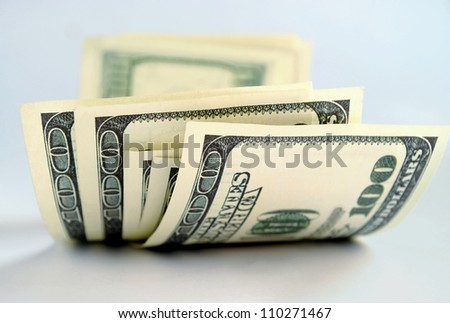 American money, bank notes for one hundred dollars - stock photo