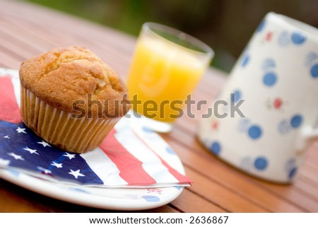 American muffin - stock photo