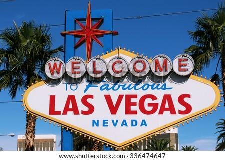 American,Nevada,Welcome to Never Sleep city Las Vegas - stock photo