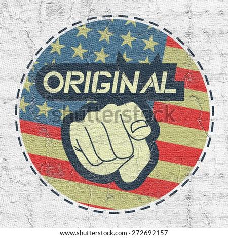 American original symbol - stock photo