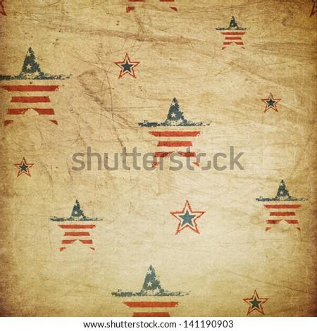 American patriotic ornament - stock photo
