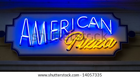 American pizza sign - stock photo