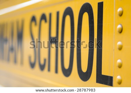 American School Bus - stock photo