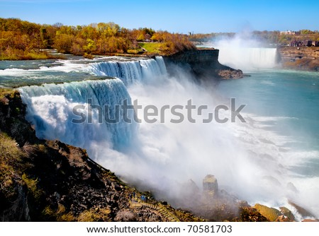 American side of Niagara Falls - stock photo
