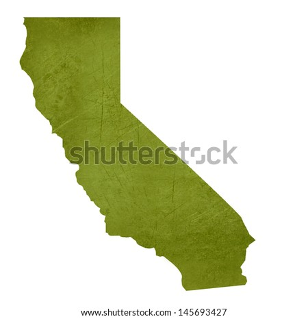 American state of California isolated on white background with clipping path. - stock photo