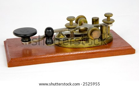 American Style Vintage Morse Key (c 1930) - stock photo